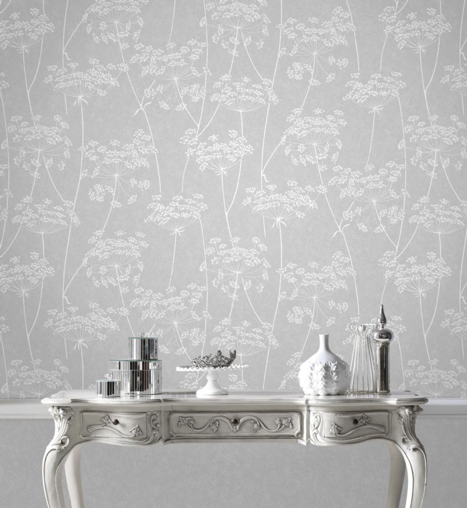 Graham and Brown Aura Grey  33-304 Wallpaper